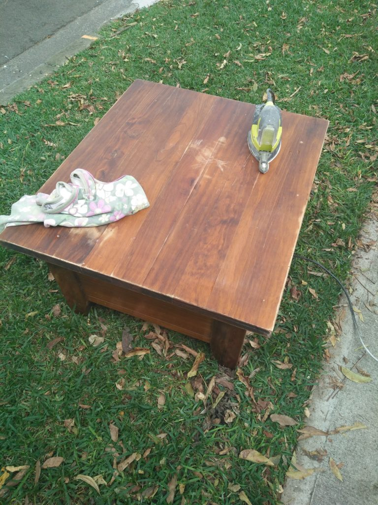 Astounding Coffee Table Makeover 8 Hour Week Pabps2019 Chair Design Images Pabps2019Com