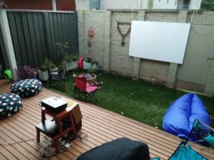 Making an Outdoor Movie Screen
